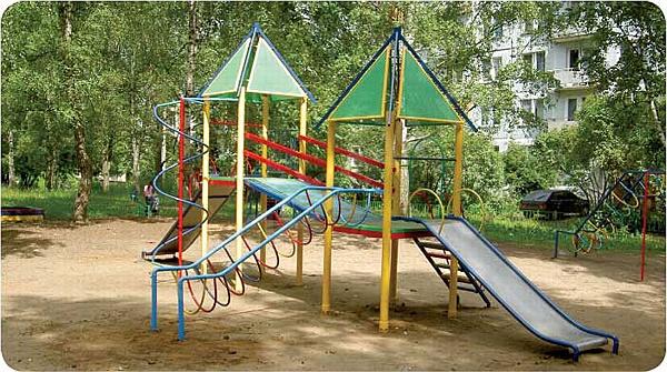 Детские площадки фото схемы из металла
