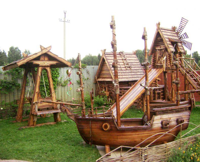 Декорации для детских площадок своими руками