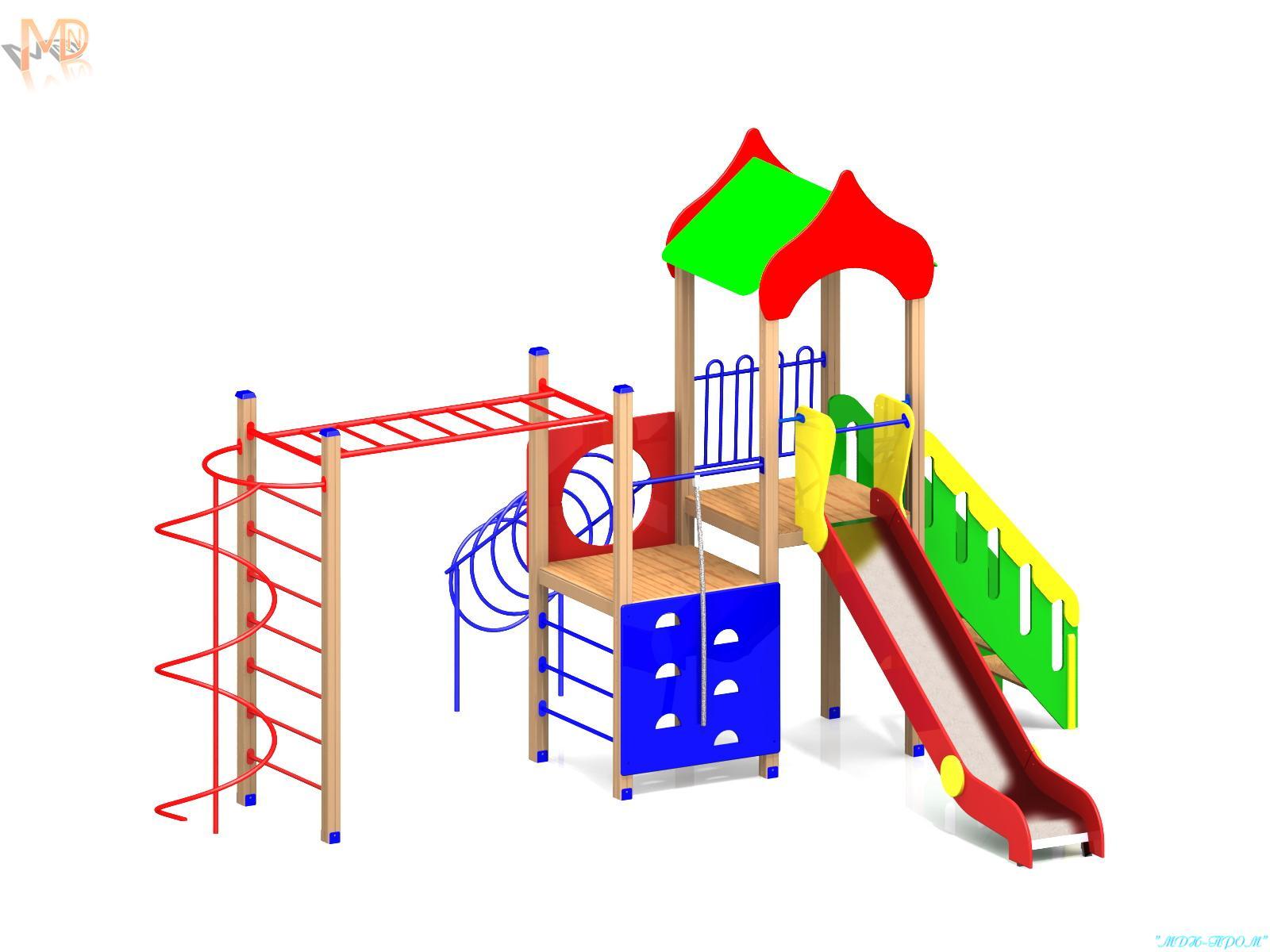 Производство детских игровых площадок из пластика